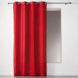 Rideau a oeillets 140 x 260 cm shantung applique scintille Rouge