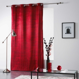 Rideau a oeillets 140 x 260 cm velours imprime verona Rouge