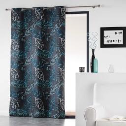 Rideau a oeillets 140 x 280 cm coton imprime majorelle Bleu