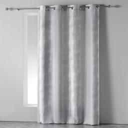 Rideau a oeillets 140 x 280 cm polyester imprime arc en ciel Gris