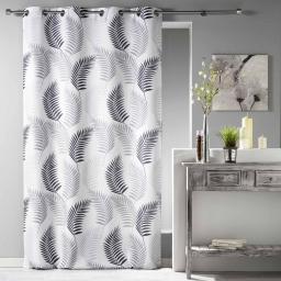 Rideau a oeillets 140 x 280 cm polyester imprime goyave Blanc