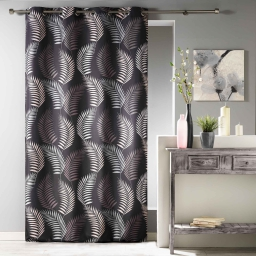 Rideau a oeillets 140 x 280 cm polyester imprime goyave Choco