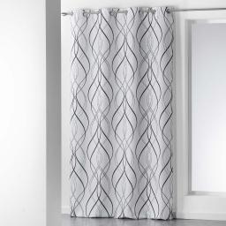 rideau a oeillets 140 x 280 cm polyester imprime melino