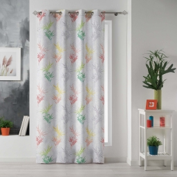 rideau a oeillets 140 x 280 cm polyester imprime orlane