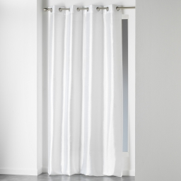 Rideau a oeillets 140 x 280 cm shantung uni shana Blanc