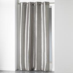 Rideau a oeillets 140 x 280 cm shantung uni shana Perle