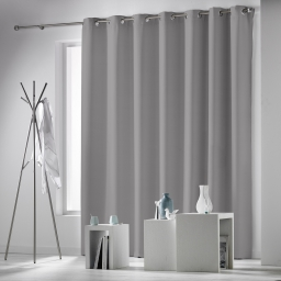 Rideau a oeillets 280 x 260 cm occultant uni occulteo Gris