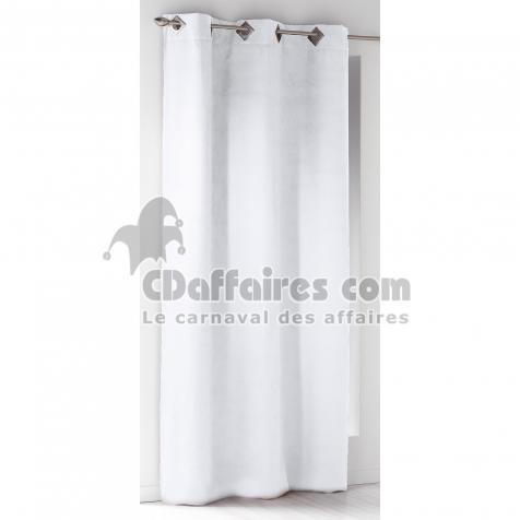 rideau a oeillets carres 140 x 240 cm suede uni suedine blanc cdaffaires. Black Bedroom Furniture Sets. Home Design Ideas