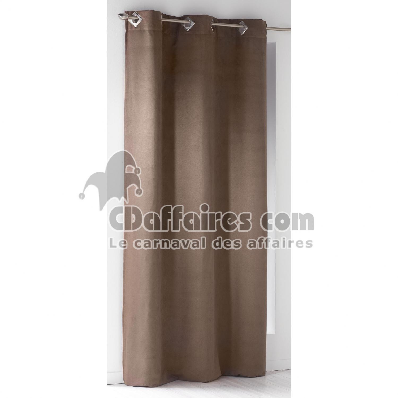 rideau a oeillets carres 140 x 240 cm suede uni suedine. Black Bedroom Furniture Sets. Home Design Ideas