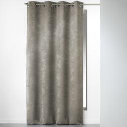 Rideau a oeillets carres 140 x 240 cm velours uni cabaret Taupe