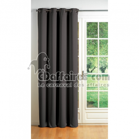 Rideau a oeillets carres 140 x 260 cm occultant uni cocoon Anthracite