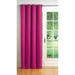 Rideau a oeillets carres 140 x 260 cm occultant uni cocoon Fuchsia