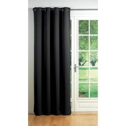 Rideau a oeillets carres 140 x 260 cm occultant uni cocoon Noir