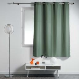 Rideau a oeillets metal 140 x 180 cm polyester uni essentiel Kaki