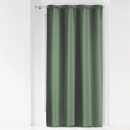 Rideau a oeillets metal 140 x 280 cm polyester uni essentiel Kaki