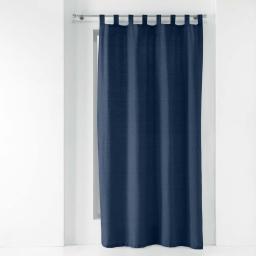 Rideau a passants 140 x 240 cm polycoton uni texas Bleu