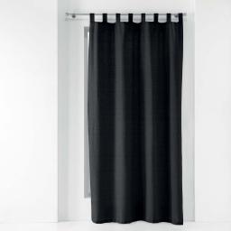 Rideau a passants 140 x 240 cm polycoton uni texas Noir