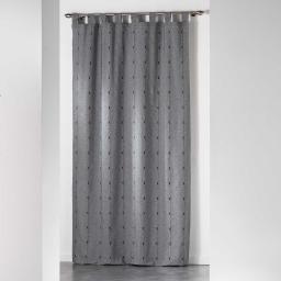 Rideau a passants 140 x 260 cm jacquard bicolore filio Anthracite