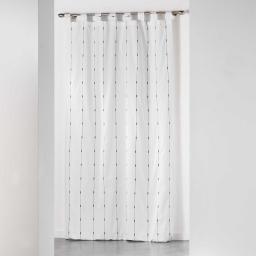 Rideau a passants 140 x 260 cm jacquard bicolore filio Blanc