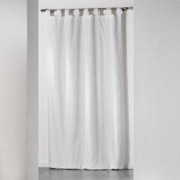 Rideau a passants 140 x 260 cm jacquard bicolore monalise Blanc