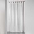 Rideau a passants 140 x 260 cm jacquard bicolore monalise Blanc, image n° 1