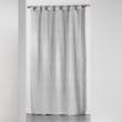 Rideau a passants 140 x 260 cm jacquard bicolore monalise Gris, image n° 1