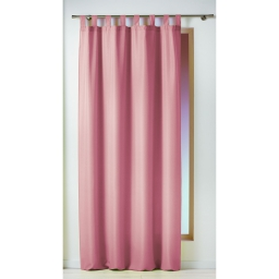Rideau a passants 140 x 260 cm polyester uni essentiel Dragee