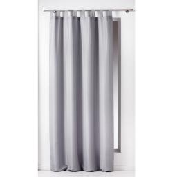 Rideau a passants 140 x 260 cm polyester uni essentiel Gris