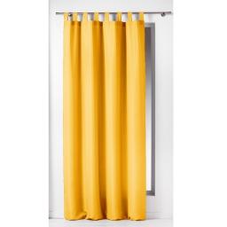 Rideau a passants 140 x 260 cm polyester uni essentiel Jaune