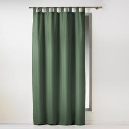 Rideau a passants 140 x 260 cm polyester uni essentiel Kaki