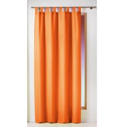 Rideau a passants 140 x 260 cm polyester uni essentiel Mandarine