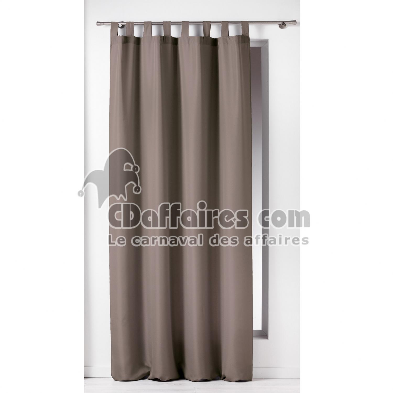 rideau a passants 140 x 260 cm polyester uni essentiel taupe cdaffaires. Black Bedroom Furniture Sets. Home Design Ideas