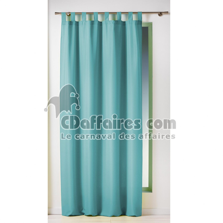 rideau a passants 140 x 260 cm polyester uni essentiel turquoise cdaffaires. Black Bedroom Furniture Sets. Home Design Ideas
