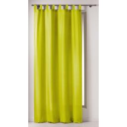 Rideau a passants 140 x 260 cm polyester uni punchy Anis
