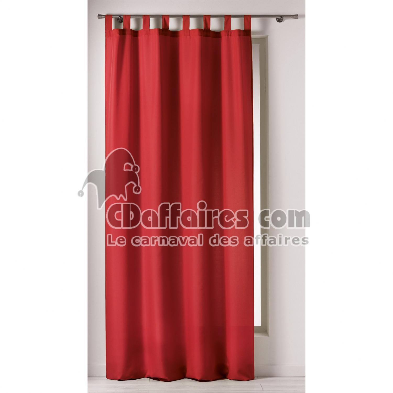 rideau a passants 140 x 260 cm polyester uni punchy rouge. Black Bedroom Furniture Sets. Home Design Ideas