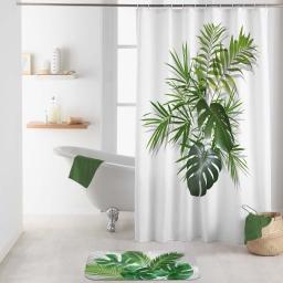 rideau de douche avec crochets 180 x 200 cm polyester imp. amazonica des. place