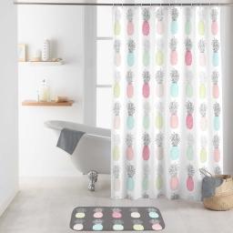 rideau de douche avec crochets 180 x 200 cm polyester imprime allonanas