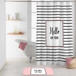 rideau de douche avec crochets 180 x 200 cm polyester imprime amour des. place