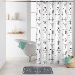 rideau de douche avec crochets 180 x 200 cm polyester imprime apache