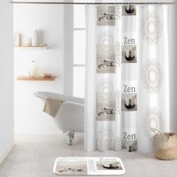 rideau de douche avec crochets 180 x 200 cm polyester imprime balaji