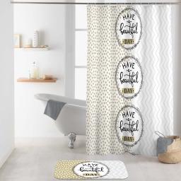 rideau de douche avec crochets 180 x 200 cm polyester imprime beautiful