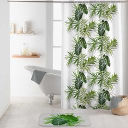 rideau de douche avec crochets 180 x 200 cm polyester imprime capina