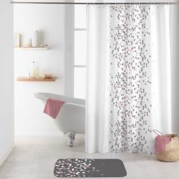 rideau de douche avec crochets 180 x 200 cm polyester imprime effervescence