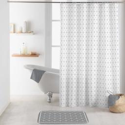 rideau de douche avec crochets 180 x 200 cm polyester imprime kubia