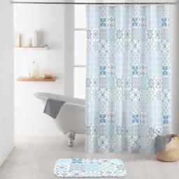 rideau de douche avec crochets 180 x 200 cm polyester imprime lagos