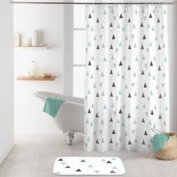 rideau de douche avec crochets 180 x 200 cm polyester imprime maddy
