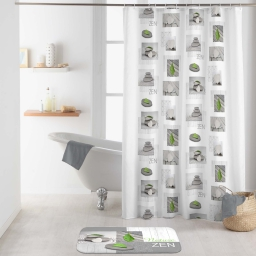 rideau de douche avec crochets 180 x 200 cm polyester imprime relaxa