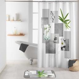 rideau de douche avec crochets 180 x 200 cm polyester imprime yanis des. place