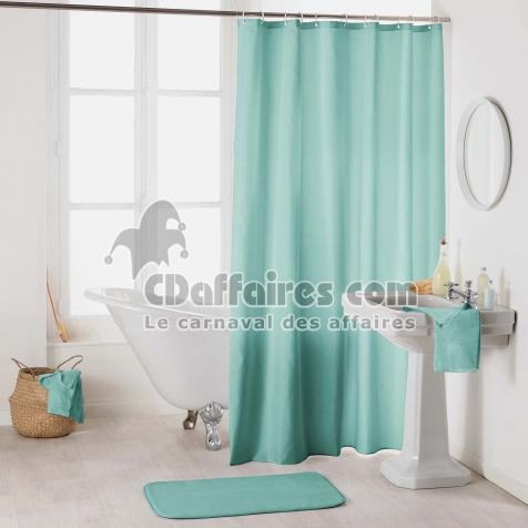Rideau de douche avec crochets 180 x 200 cm polyester uni essencia ...