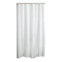 rideau de douche effet 3d mosaique peva 180*h200cm transparent